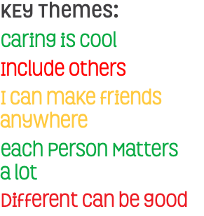 KEy Themes: Caring is cool Include others I can make friends anywhere each Person Matters 